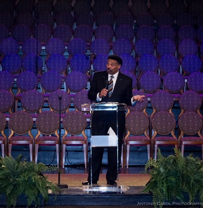 "Keynote Speaker, Rev. Dr. Tony Evans, Senior Pastor of Oak Cliff  Bible Fellowship in Dallas, sharing an inspiring message on the the theme, ""Thy Kingdom Come, Thy will be done."""