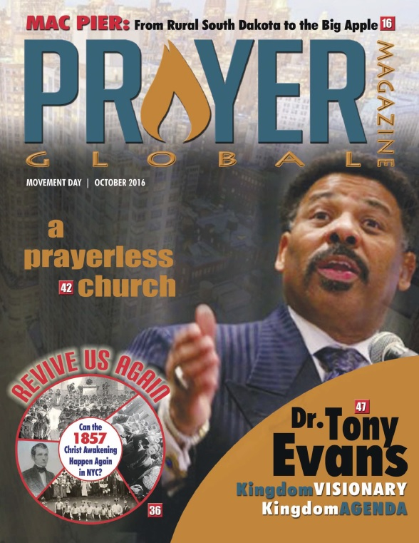 Prayer Global, the special Magazine that was published to memorialize the October 24, 2016 historic Prayer Gathering, features a diversity of wonderful articles on prayer, its consequences for revival for the transformation of our broken cities and the advancement of world evangelism in our increasingly fragile world. This  60-page commemorative magazine was produced by IPMI and published by Rev. Dennis Dillon, publisher of The New York City Christian Times.  We are pleased to make available to you, free of cost, the electronic copy of this inspiring magazine.